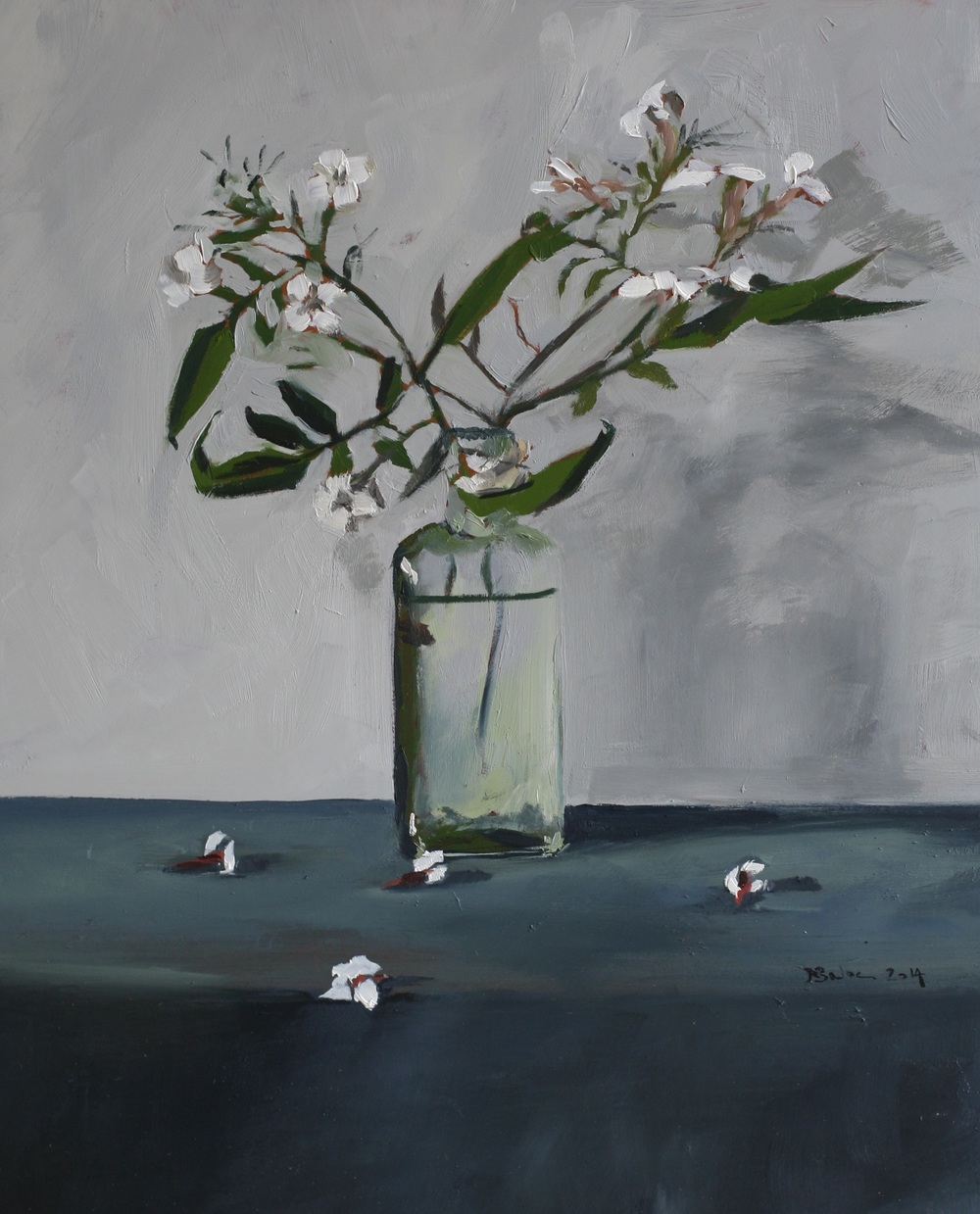 Last of the Jasmine oil on gesso panel 24 x 30 cm sold