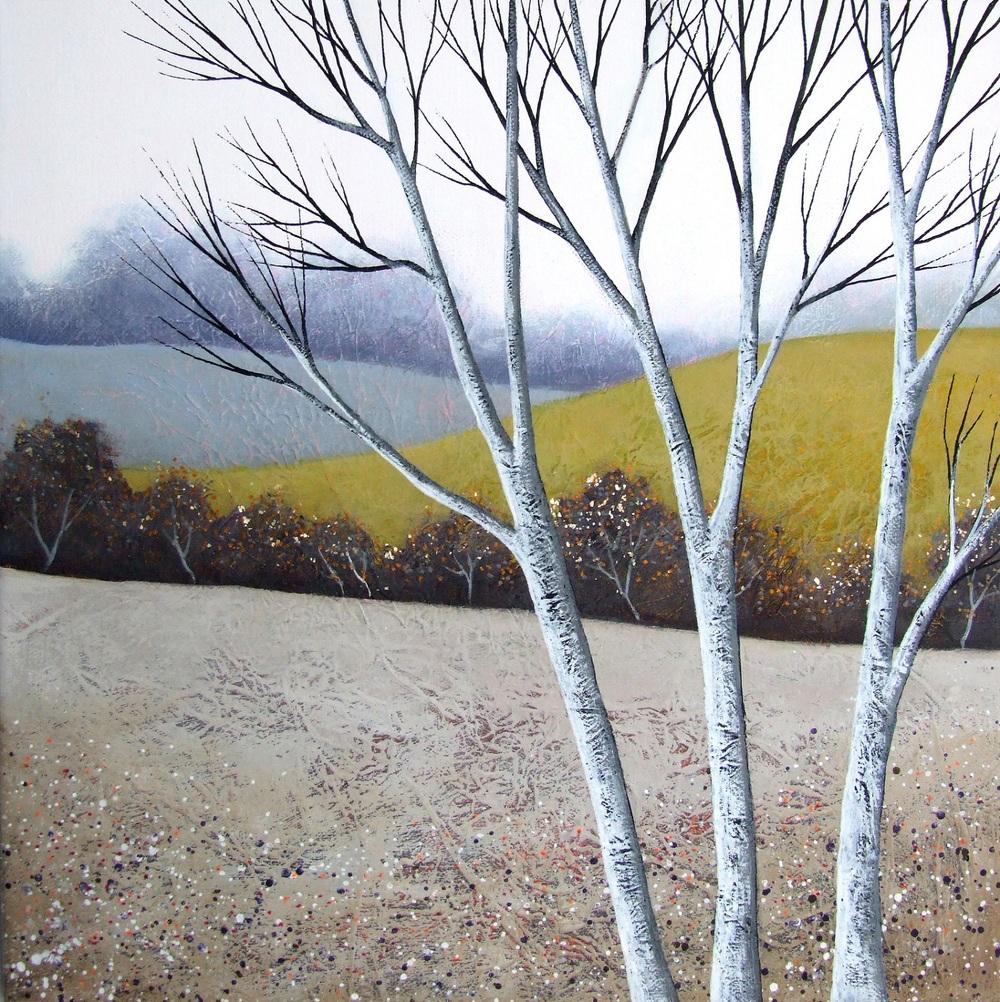The Elegant Birches III   acrylic & mixed media    sold
