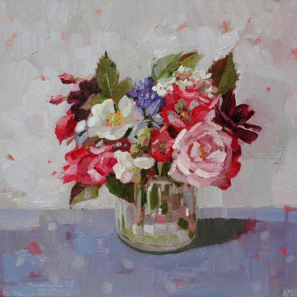 Summer Flowers in Jar oil 30 x 30 cm SOLD
