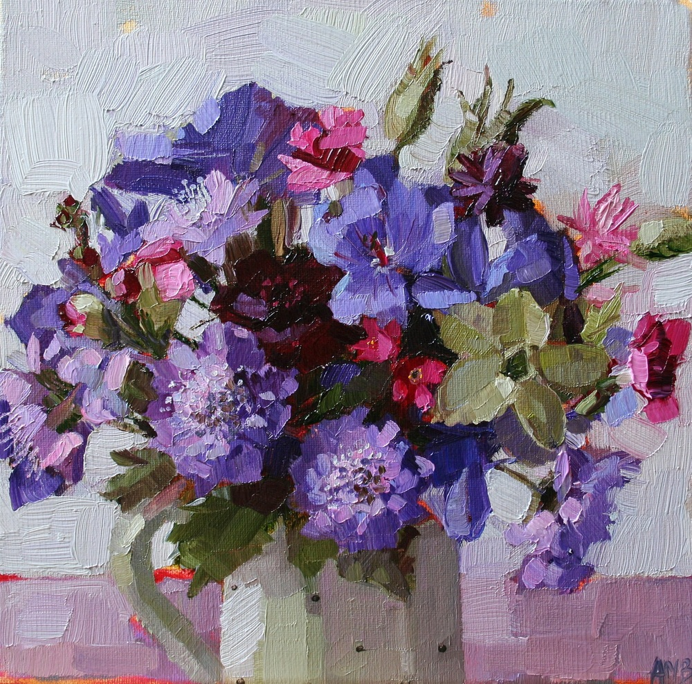 Flowers from the Garden oil 20 x 20 cm sold