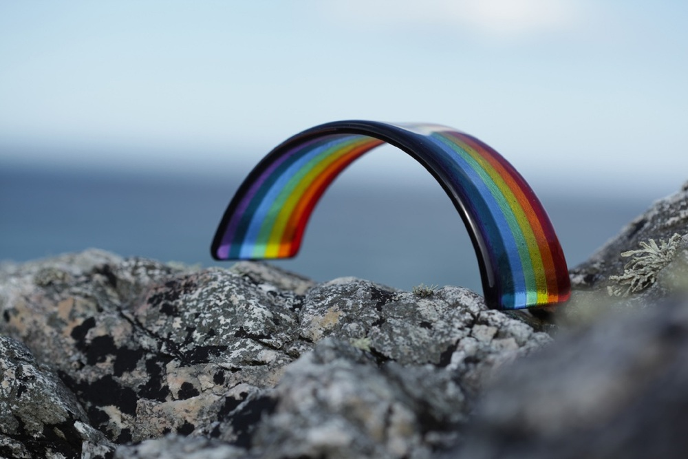 Rainbow Glass Small £26 (14 x 6cm) Large £35 (35 x 8.5cm)