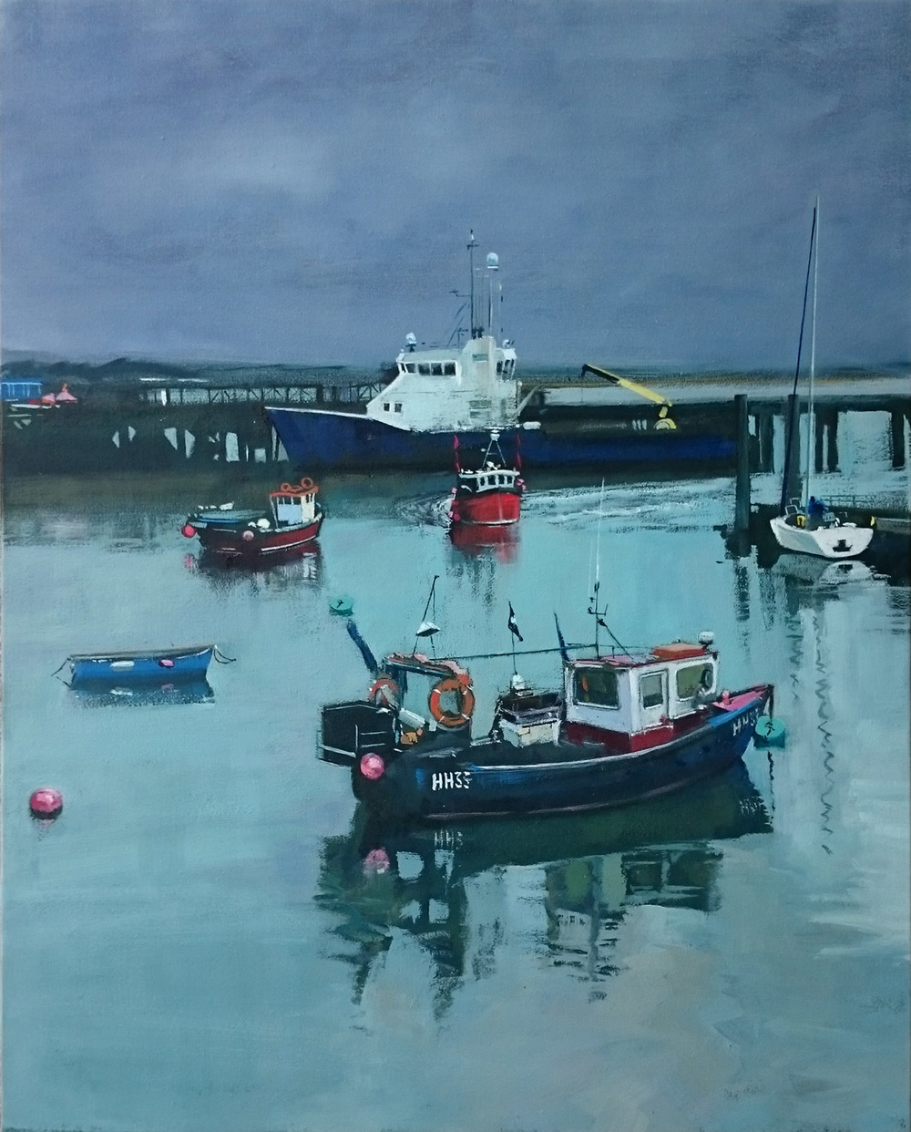 Harwich 7  oil on canvas  £650