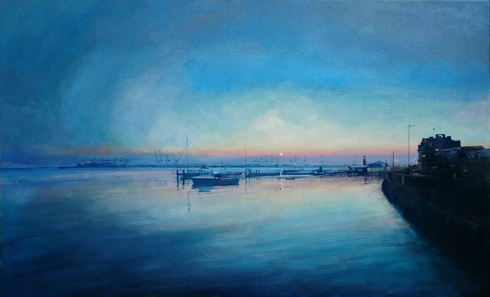 Harwich Sunrise oil on canvas