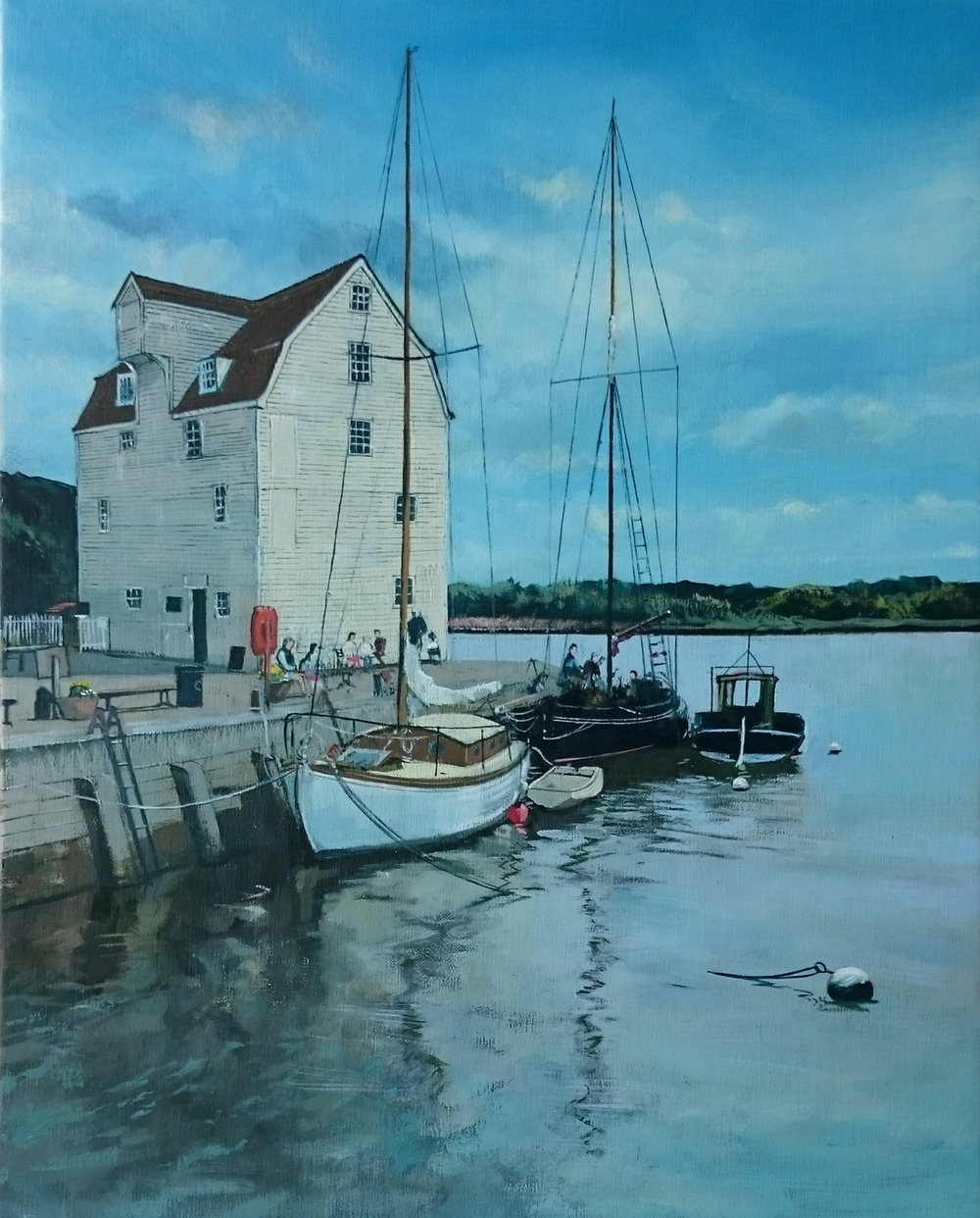 Woodbridge 1  oil on linen canvas  sold