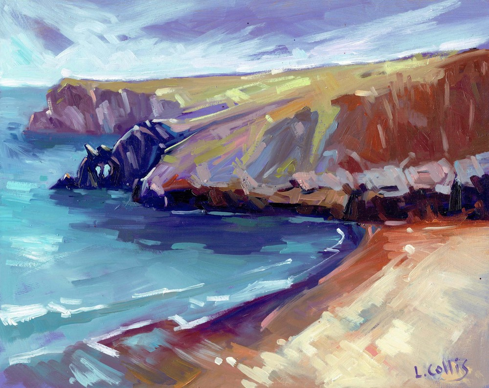 Barafundle Bay oil on paper 20 x 25cm sold