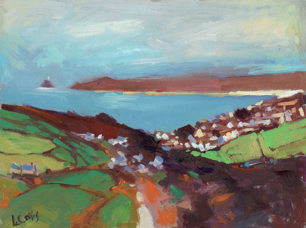 St Ives from Rosewall Hill   oil on paper    15 x 20cm   sold