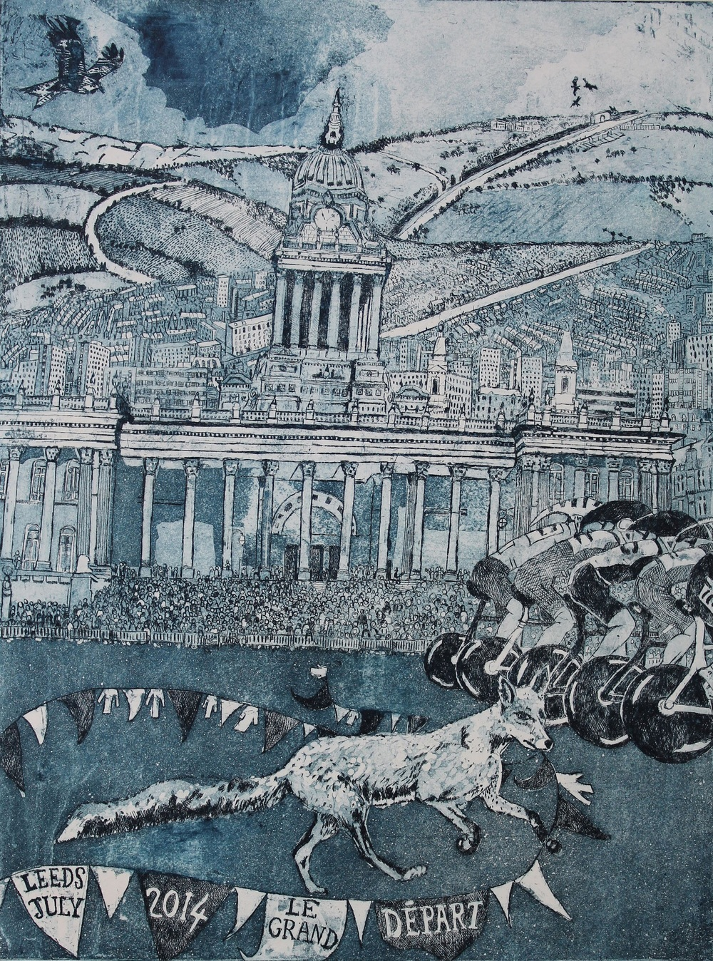 Wild start - Grand Depart   etching