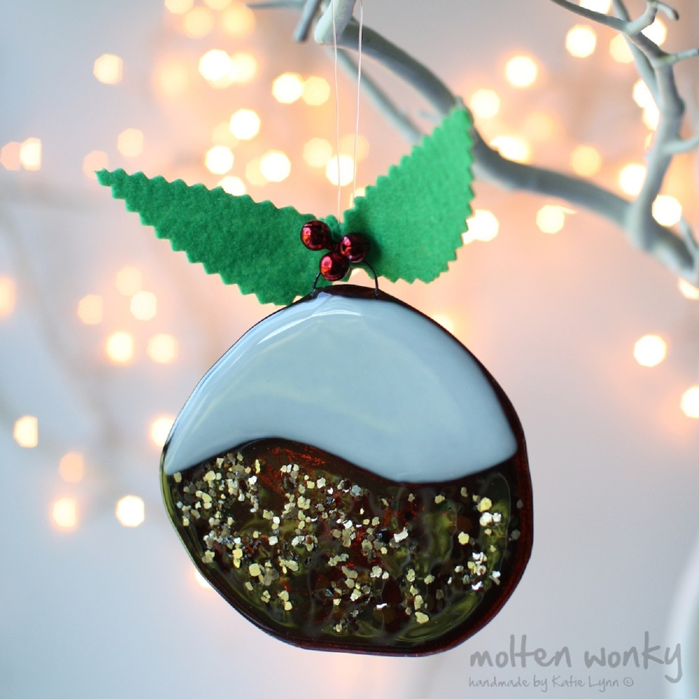 Christmas Pudding Decoration fused glass £18
