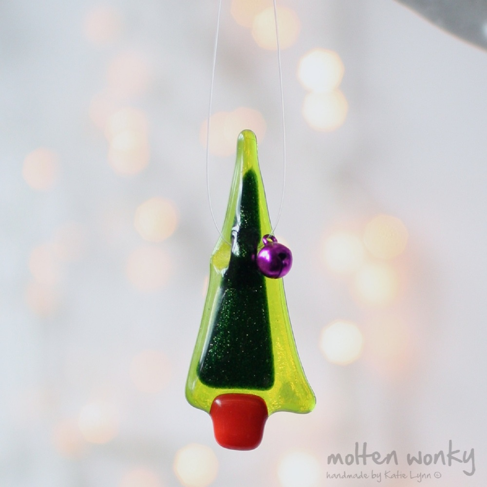 Tiny Tree Decoration fused glass £4