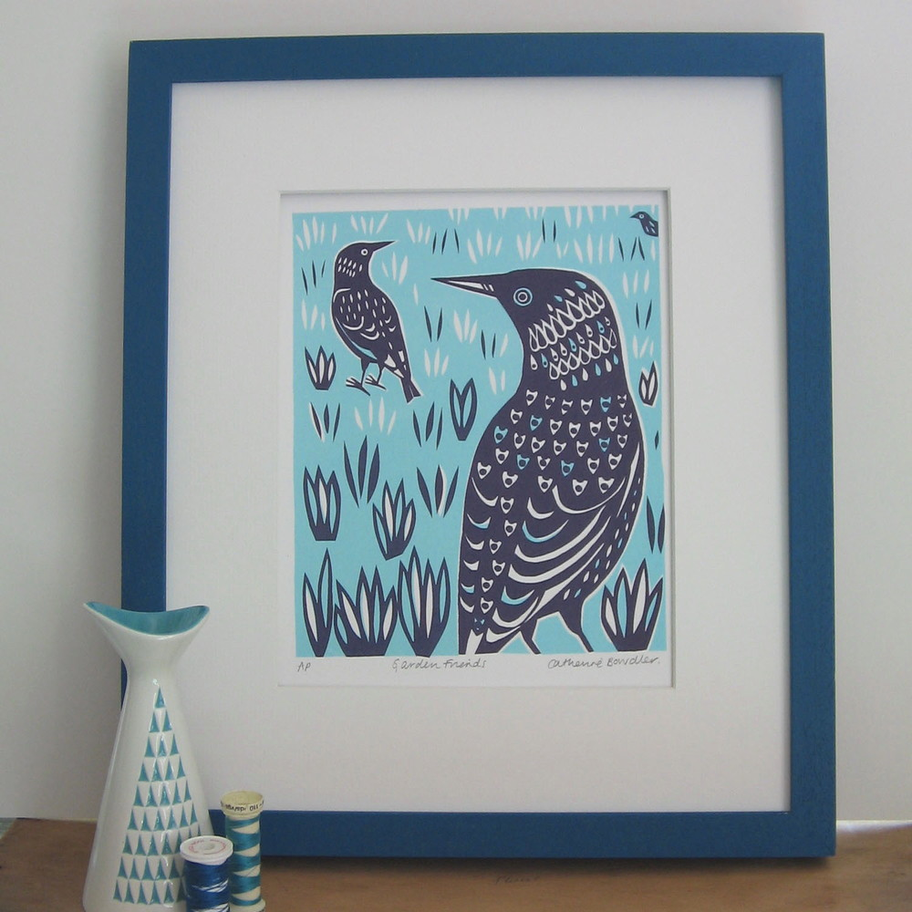 Garden Friends   screenprint   £20 (unframed)