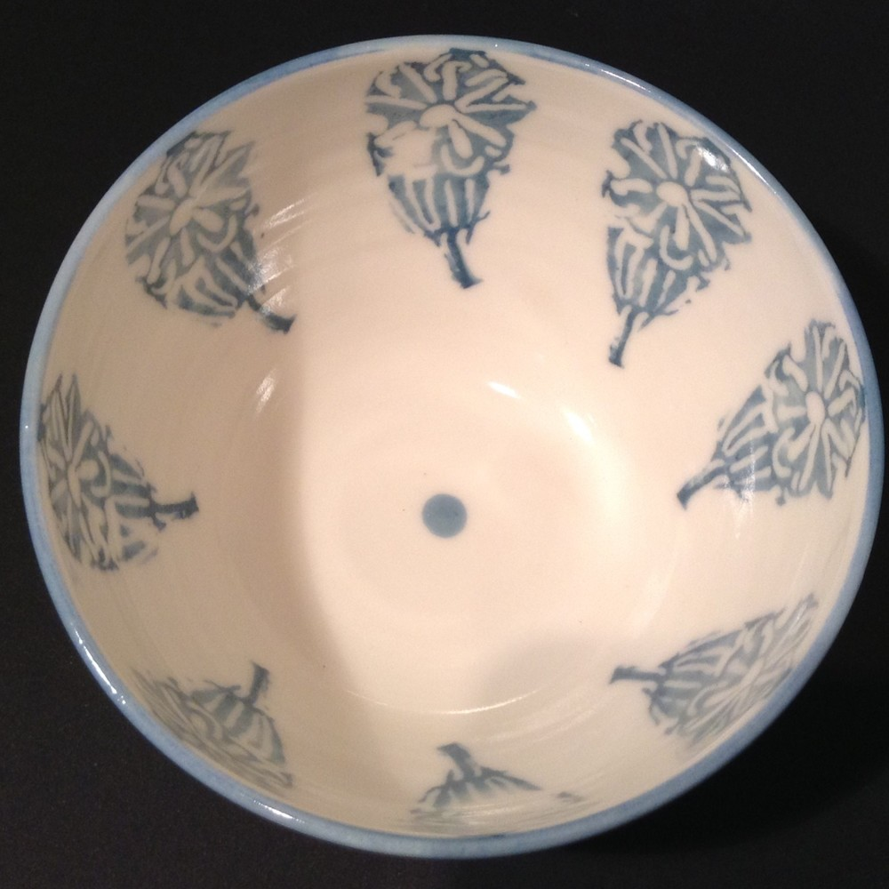Blue Rim Bowl  porcelain