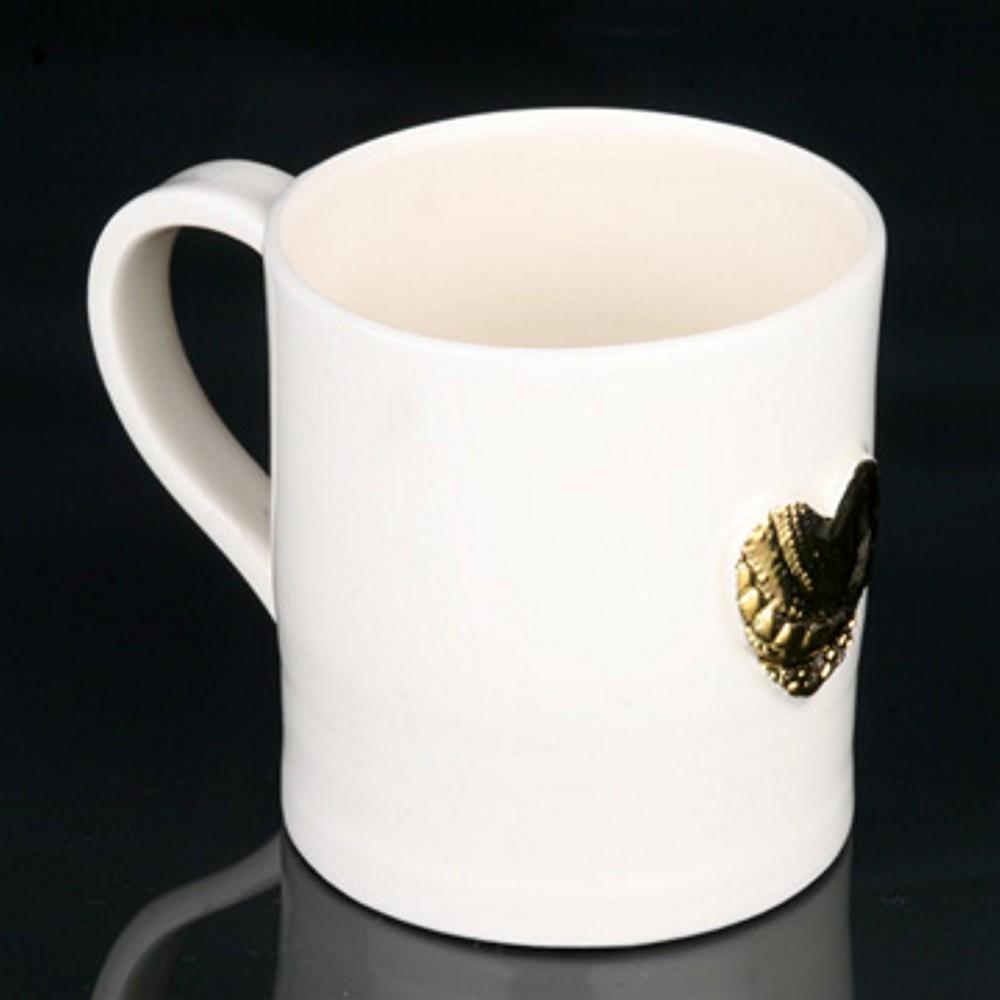 Gold Lustre Mug porcelain