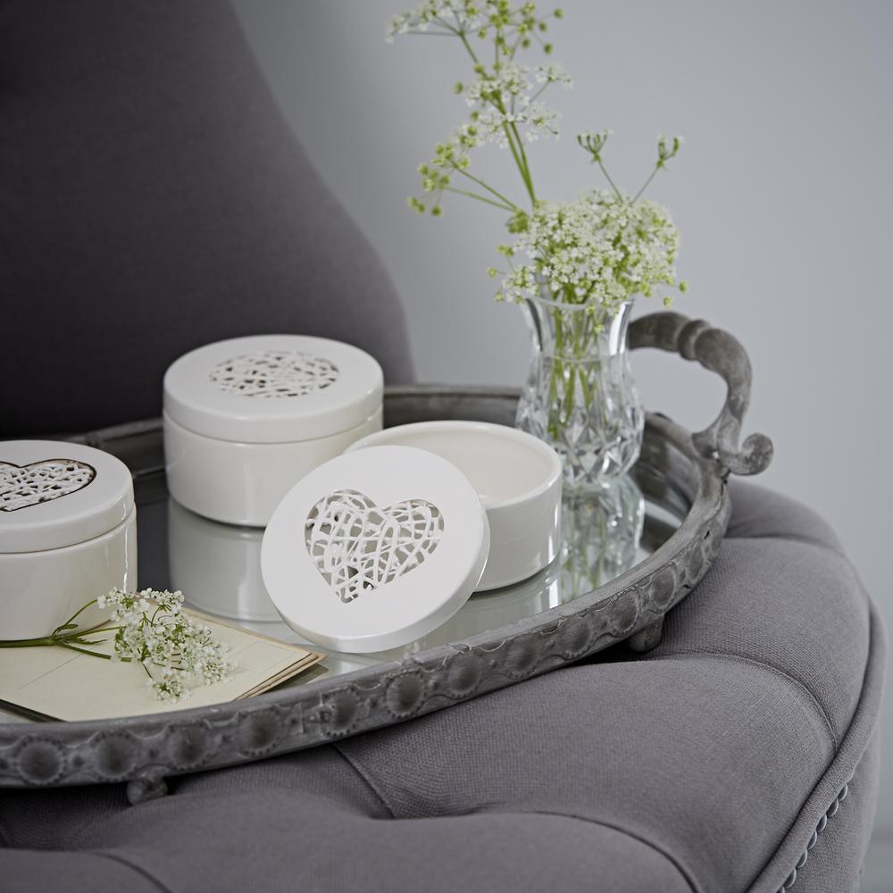 Tangled Heart Trinket Box   ceramic