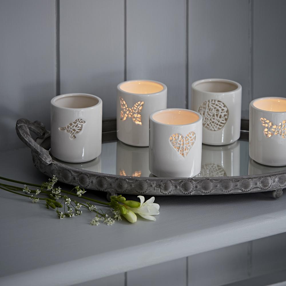 Tangled Tea Light Holders   ceramic    £15 each