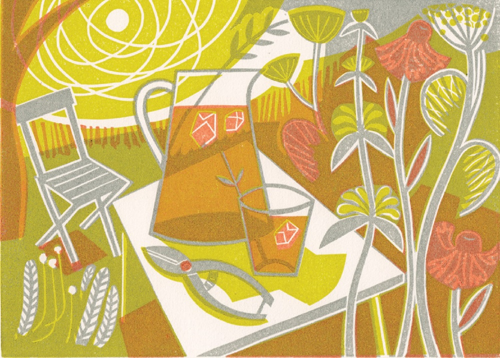 Summertime linocut 14 x 18 cm £121 (unframed)