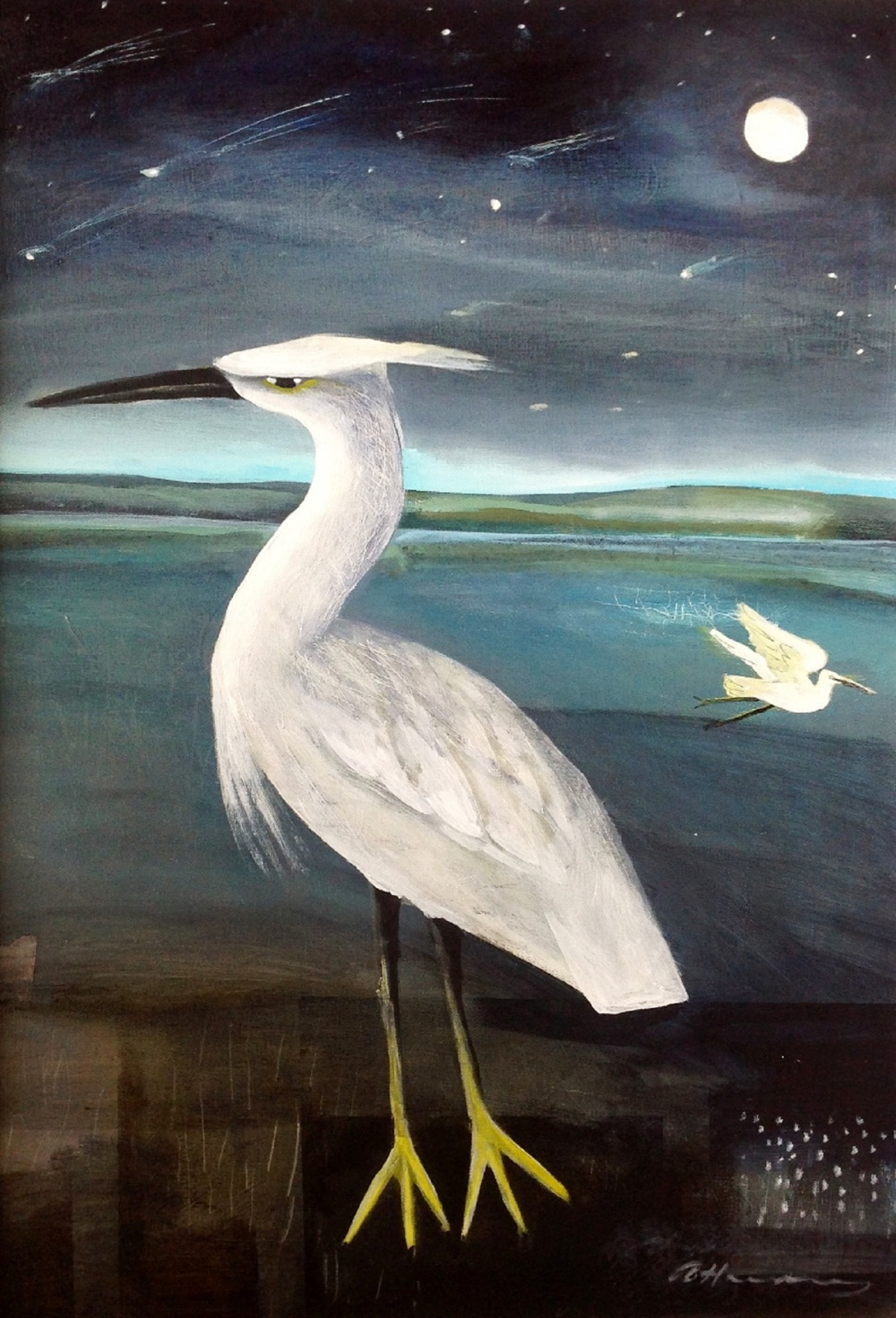 Night Fishing acrylic on canvas