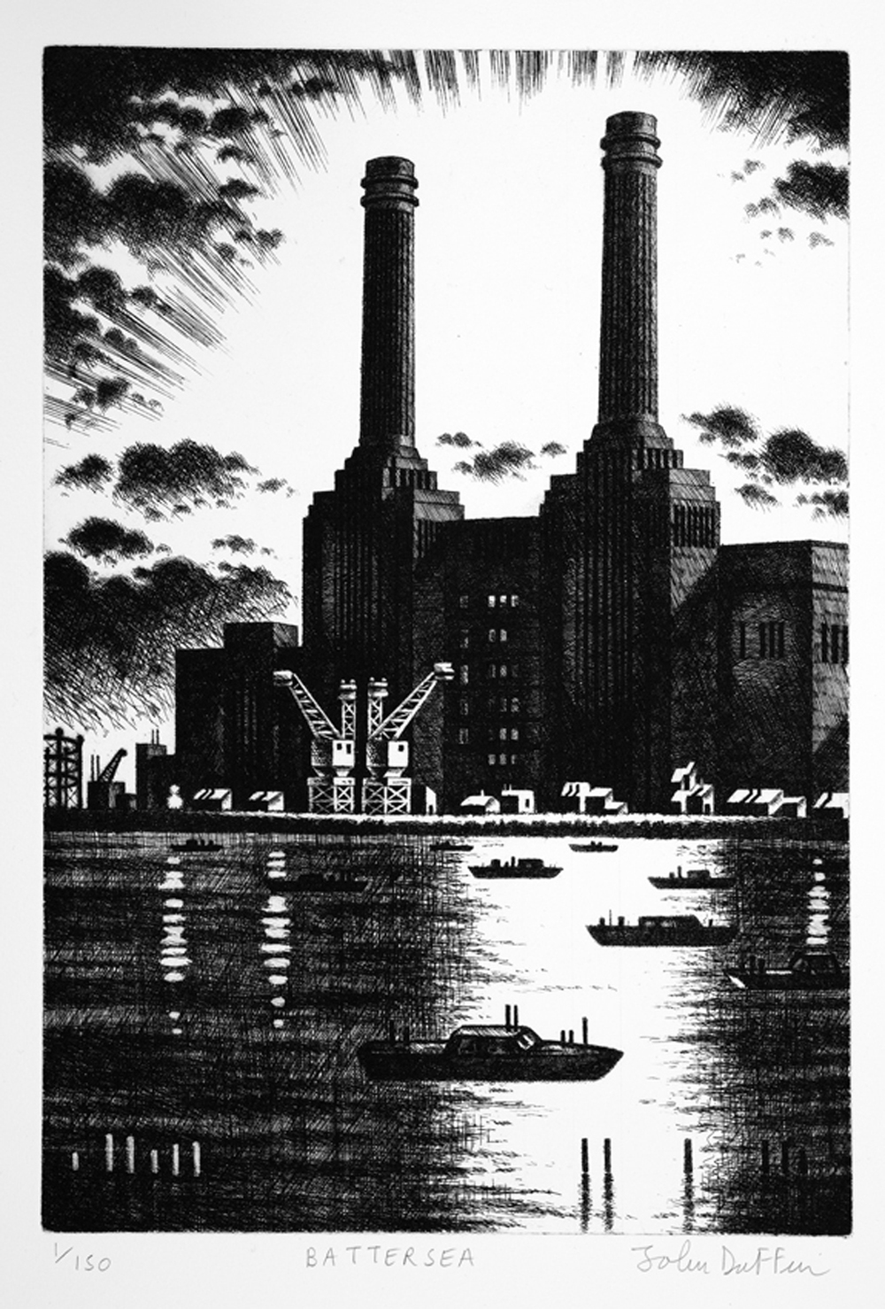 John Duffin   Battersea   etching