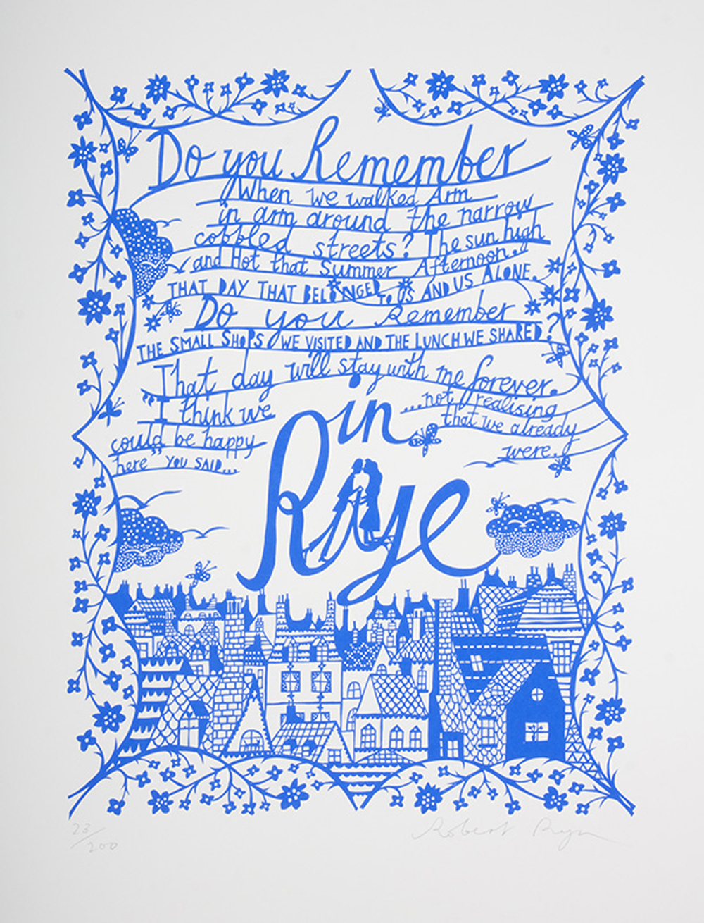 In Rye screenprint