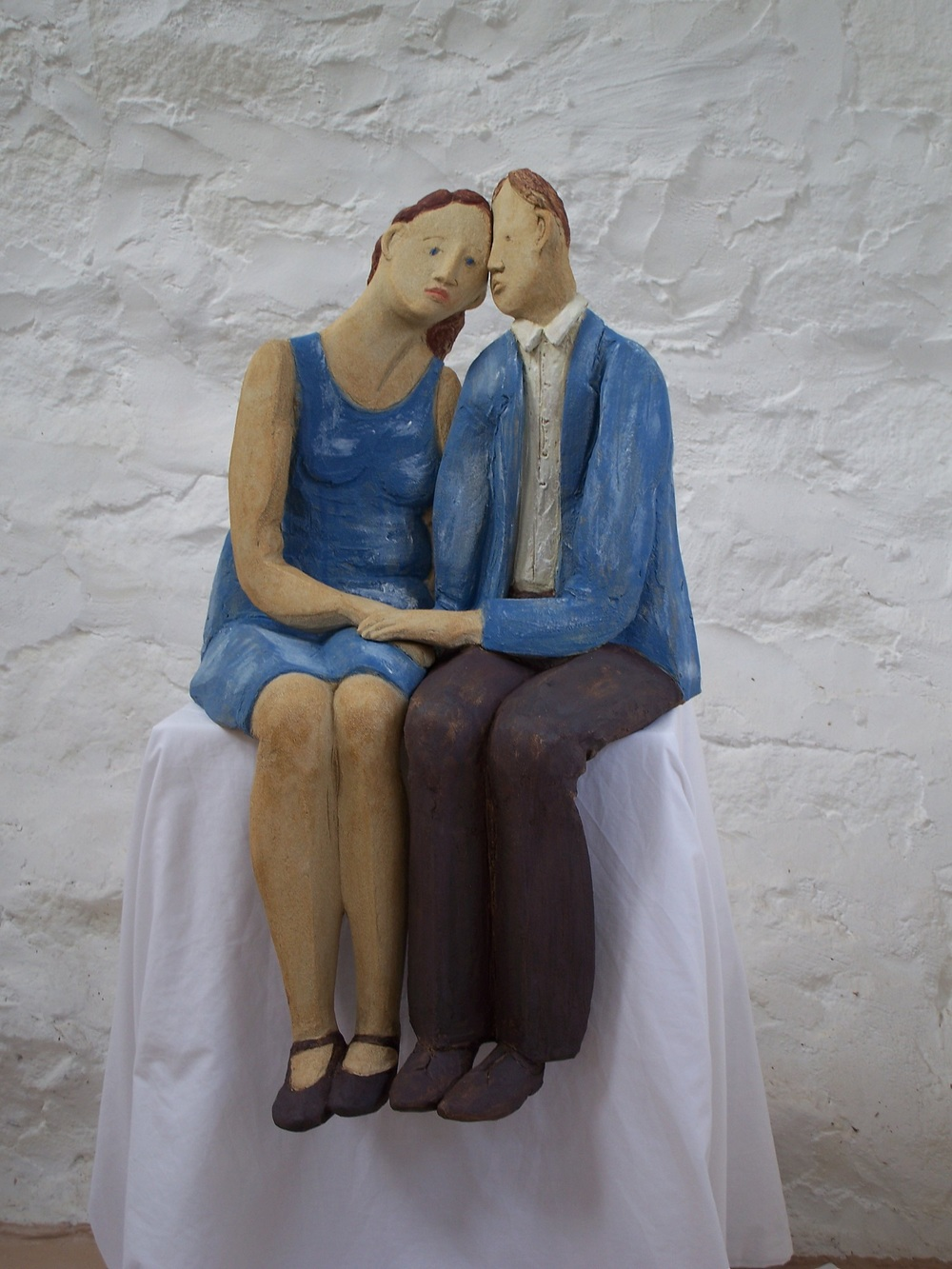 Sweethearts coloured slip on stoneware  55 x 90cm £1,430