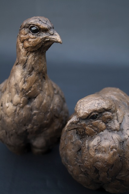 Partridges  Bronze Resin