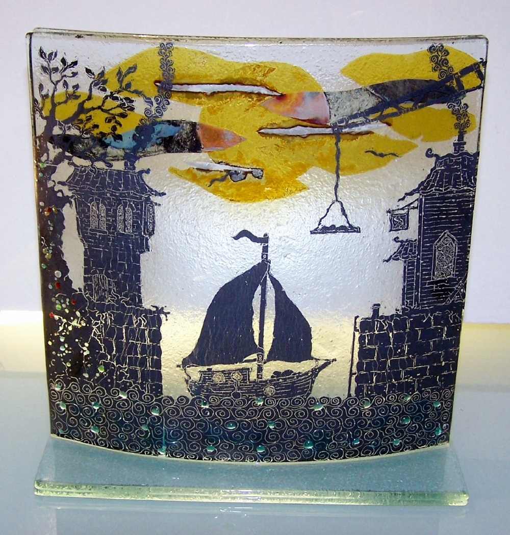 Harbour Scene Curve glass