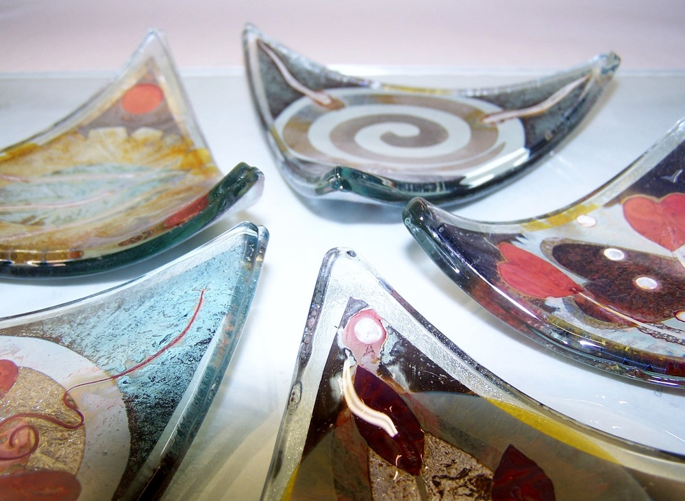 Triangular Dishes   glass