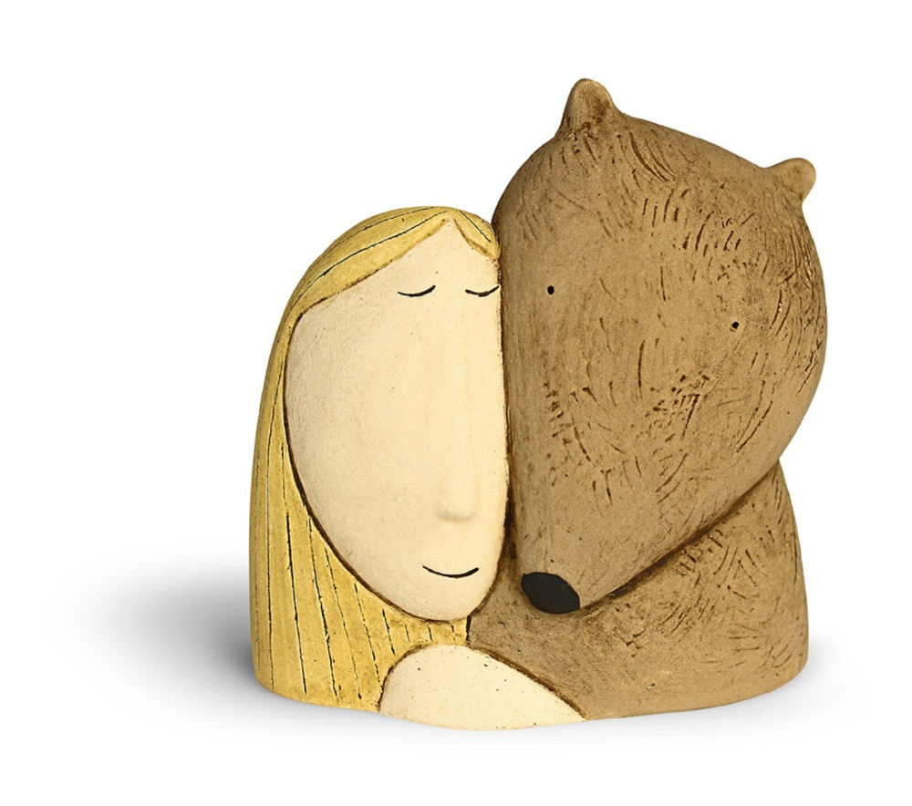 Bear and Girl ceramic