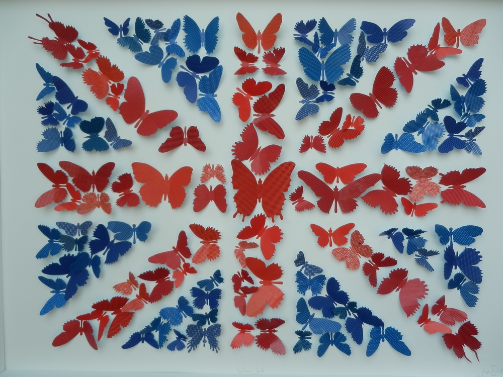 Union Jack mixed media