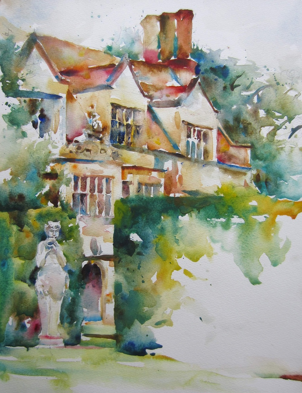 Anglesey Abbey watercolour 40 x 50 cm £475
