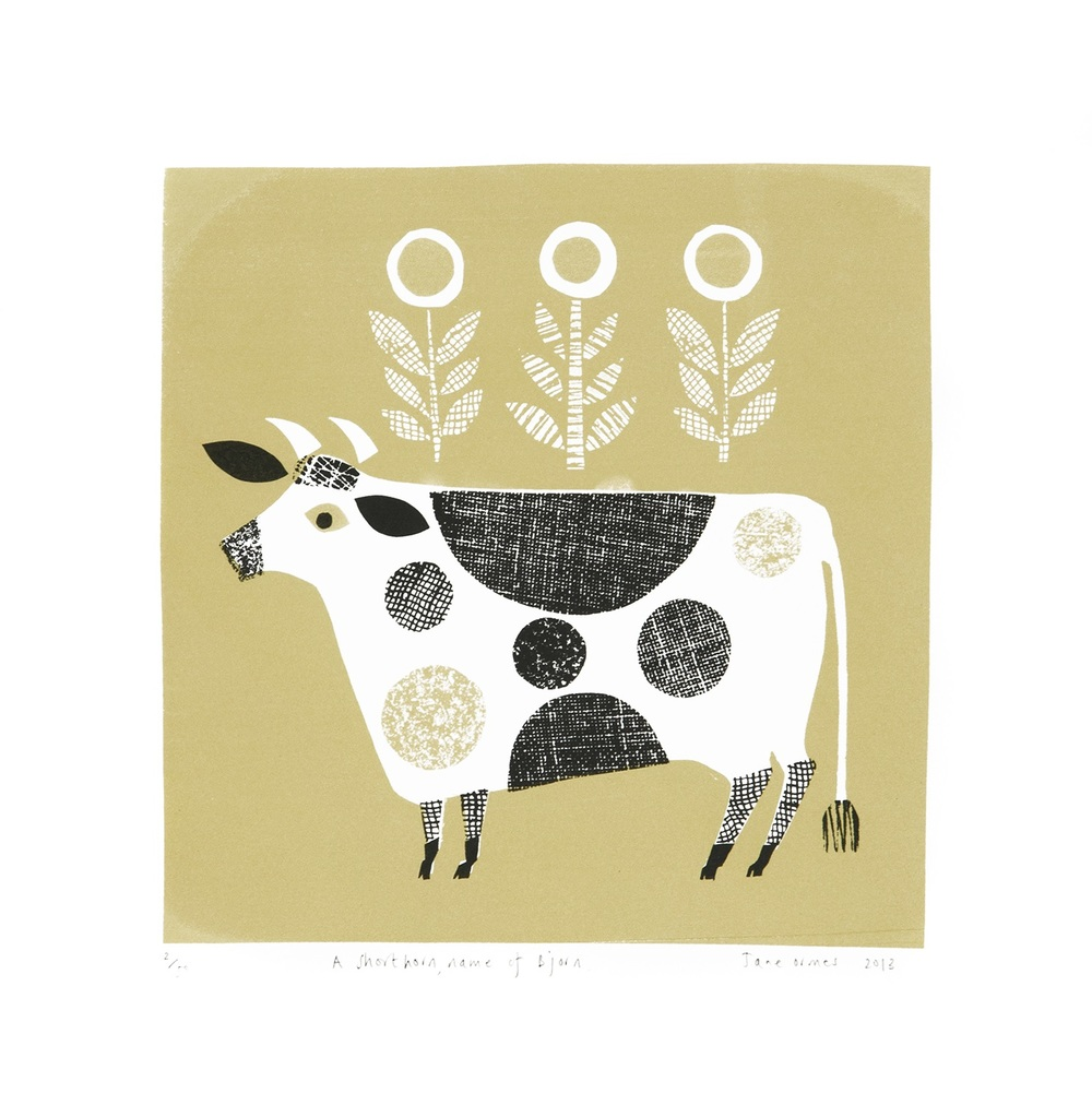 A Shorthorn Named Bjorn screenprint