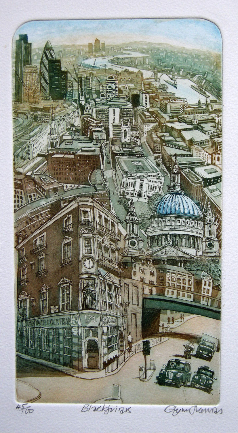 Blackfriars etching £100 (unframed)