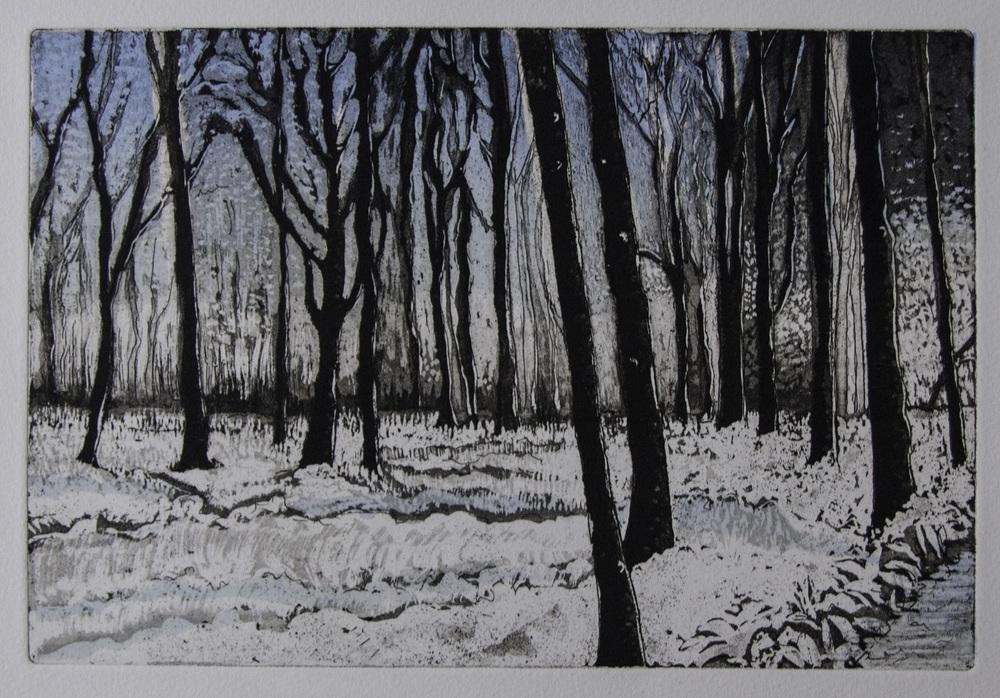 Winter Wood   etching / linocut   £120 (unframed)