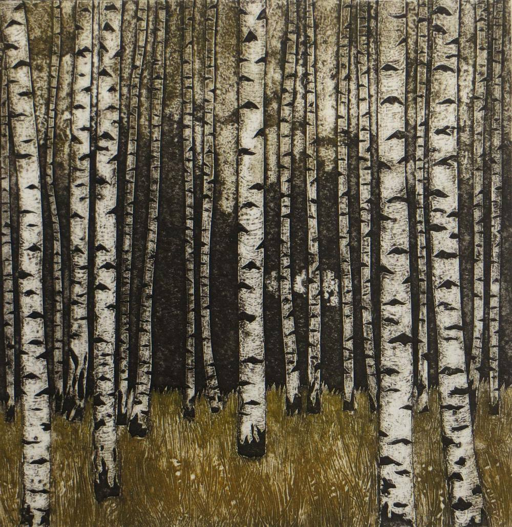 Skogen collagraph 20 x 9 cm £100 (unframed)