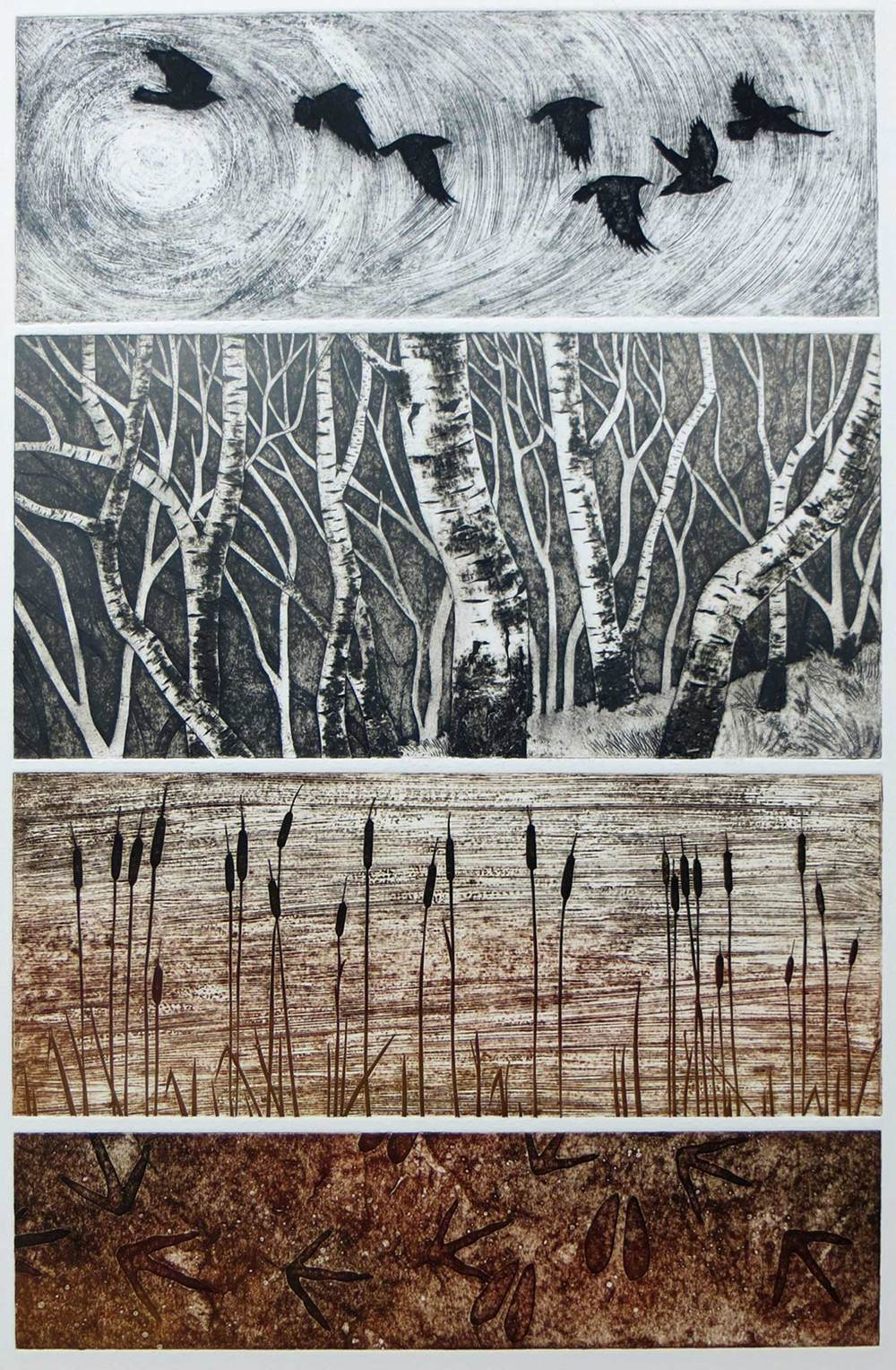 Winter   collagraph   EDITION SOLD OUT