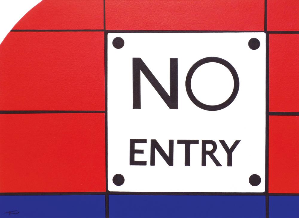 No Entry acrylic & ink