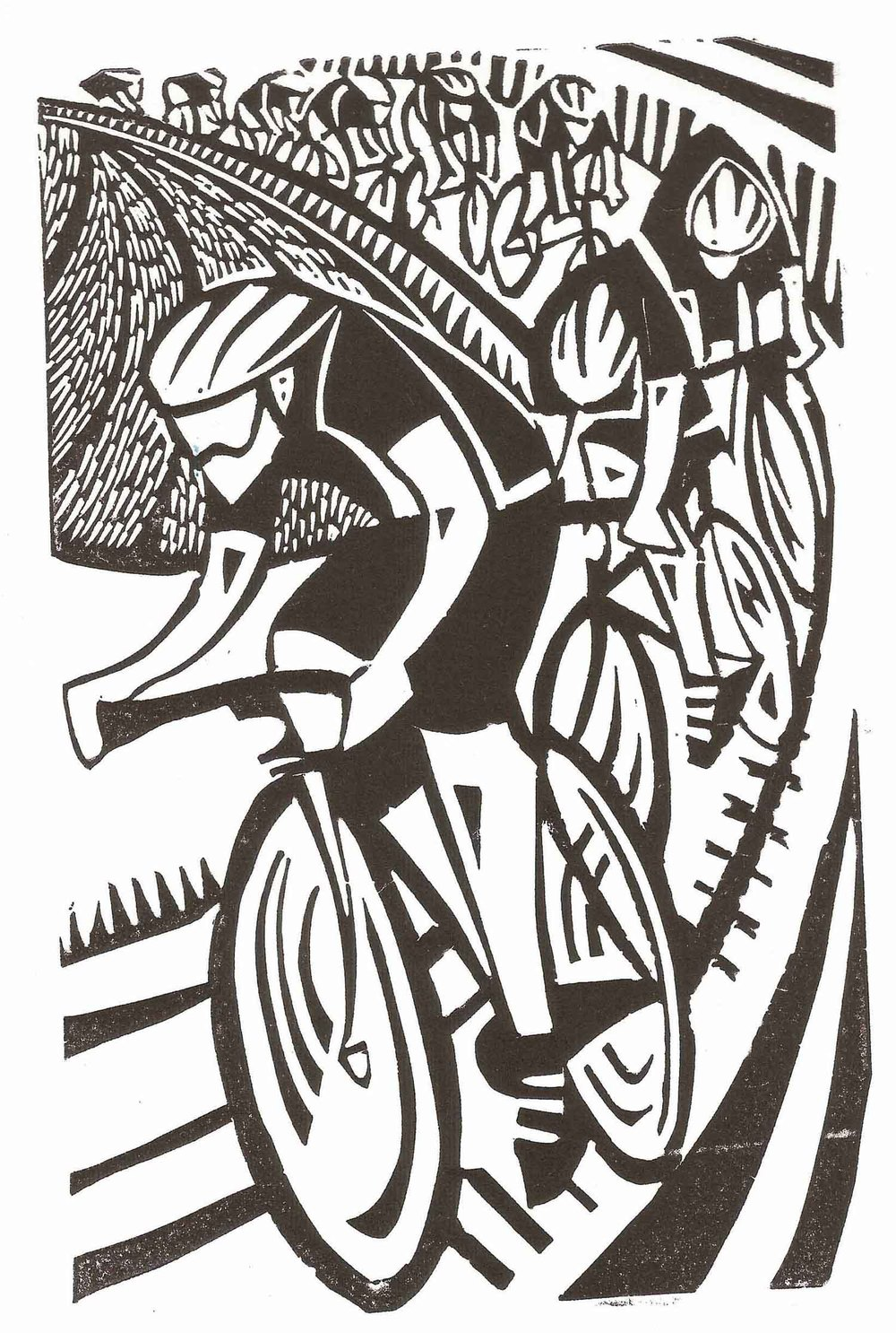 Bike Race linocut £250