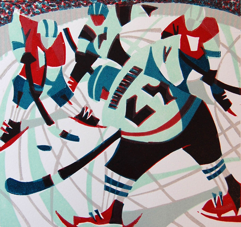 Ice Hockey   linocut   £150