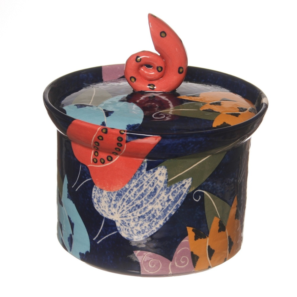Cut Paper Lidded Box  ceramic