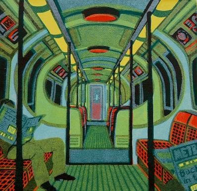 Metroland II   linocut    33 x 34 cm    £330  (unframed)