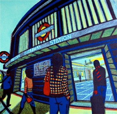 One Way Ticket linocut 33 x 34 cm £330 (unframed)