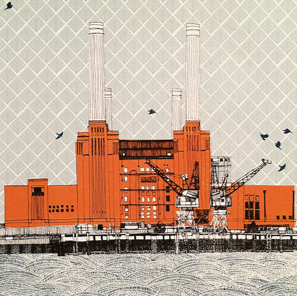 Power at Battersea    screenprint     23 x 23 cm   £150 (unframed)