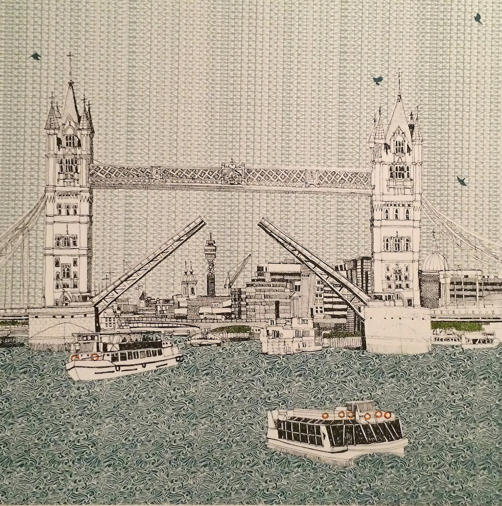 Tower Bridge    screenprint     23 x 23 cm    £150 (unframed)