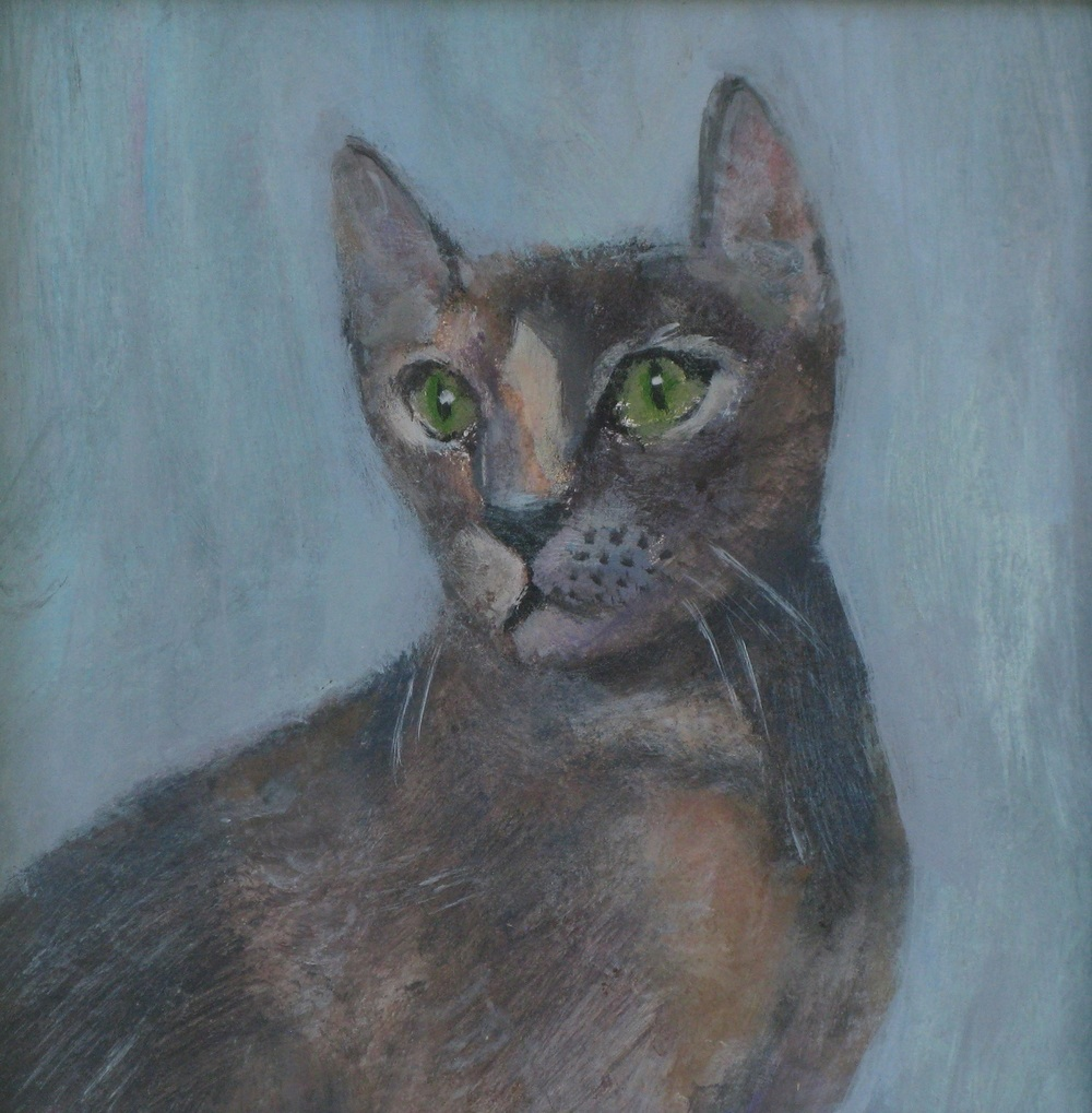 Wistful Cat acrylic on board £175