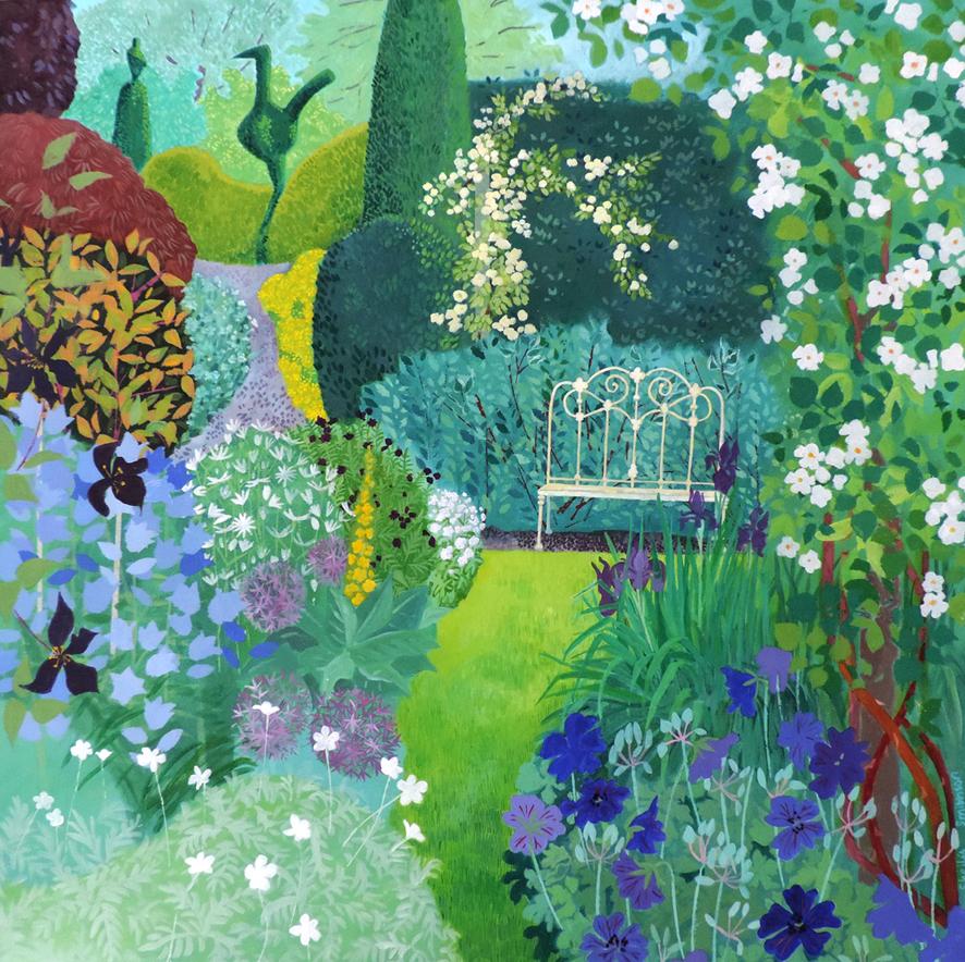 Garden Topiary acrylic £1100