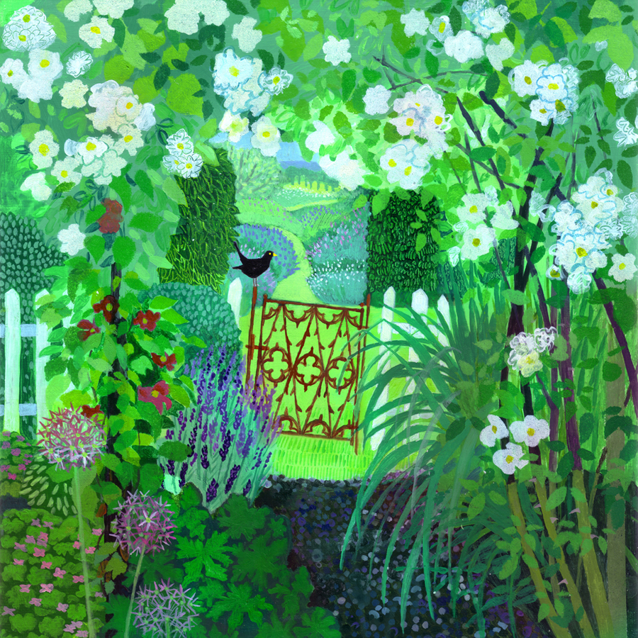 In an English Country Garden acrylic £650