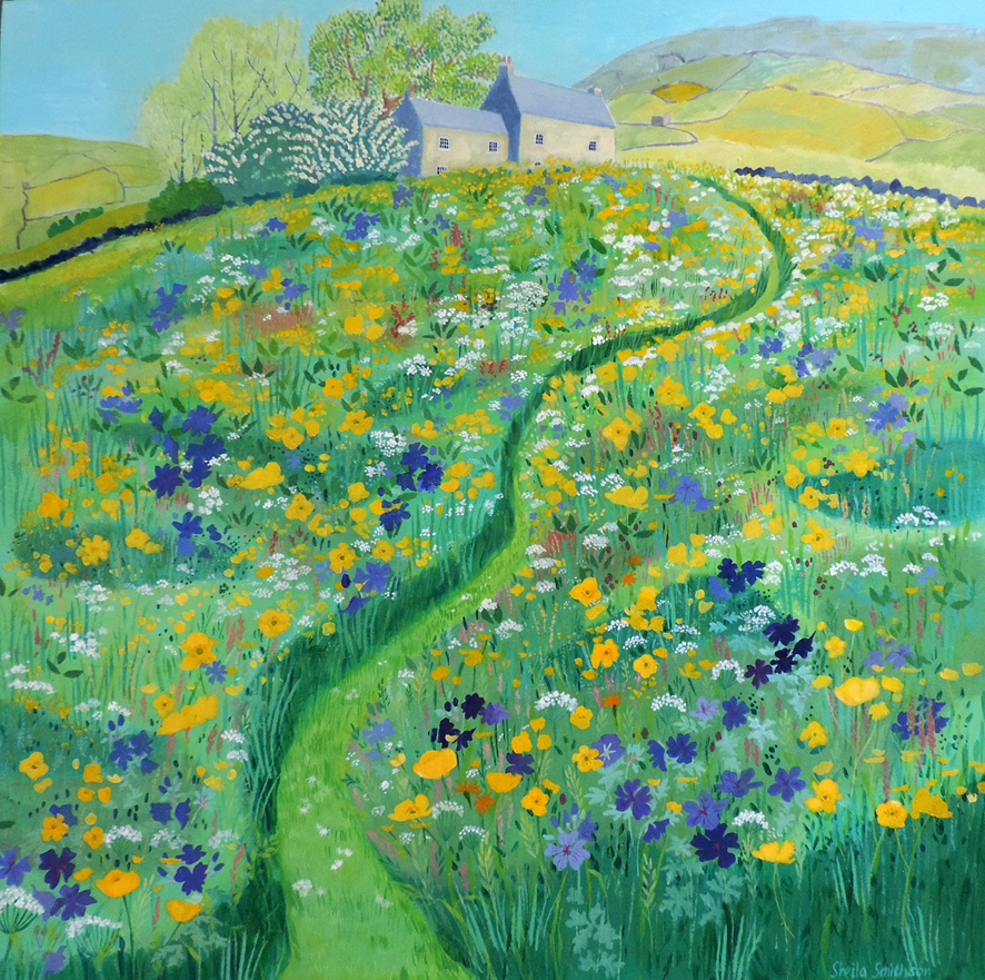 Path Through a Swaledale Meadow acrylic