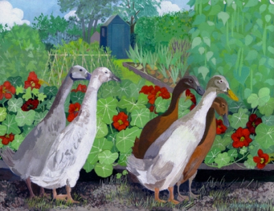 Allotment Ducks acrylic & gouache £770