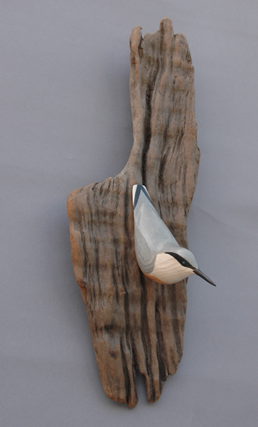 Nuthatch wood & acrylic SOLD