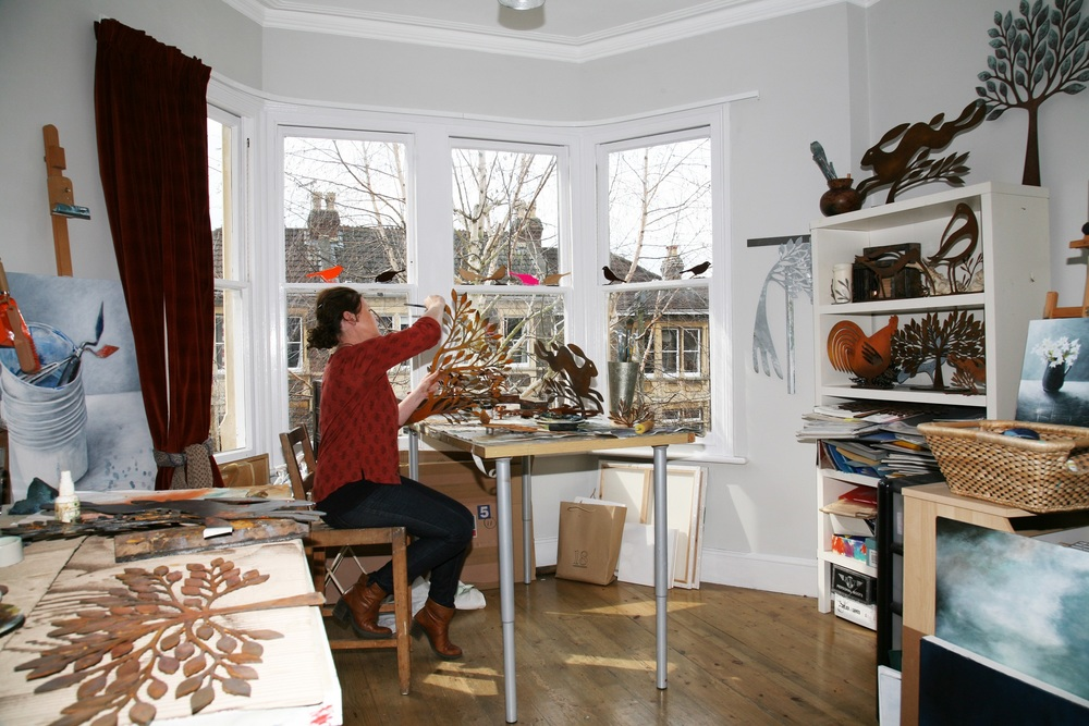 Ruth at work in her studio