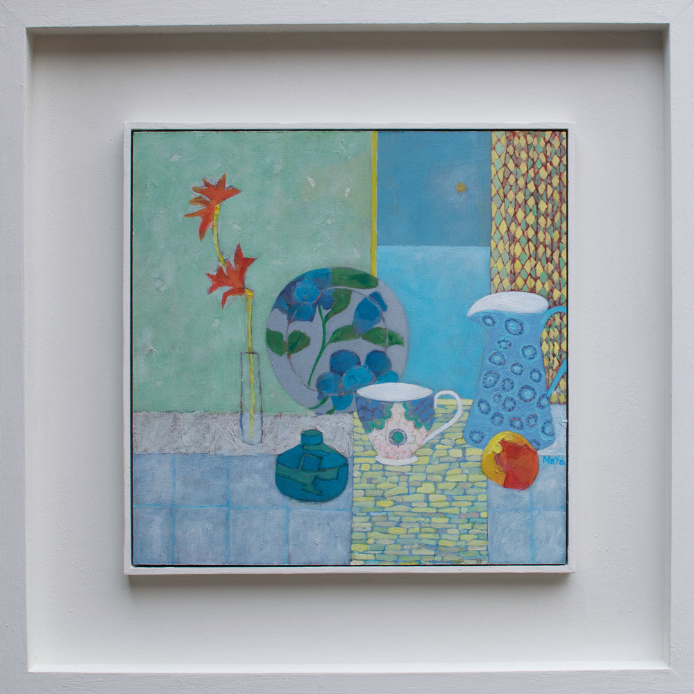 Still Life on Windowsill  acrylic on board  49 x 49 cm framed  £395